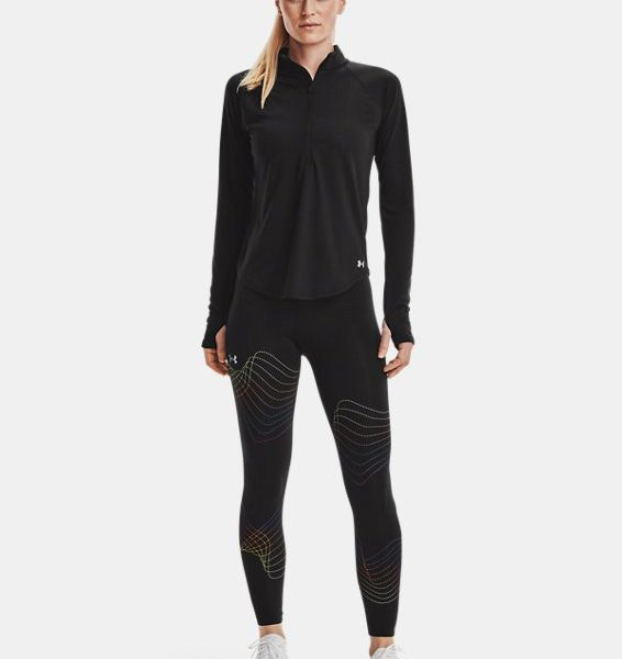 Camiseta con media cremallera UA Streaker Run para mujer