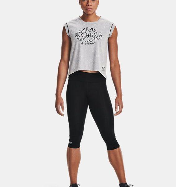 Camiseta de manga corta UA Give Pace A Chance para mujer
