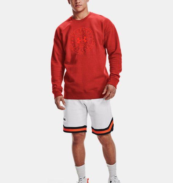 Pantalón corto de tejido Fleece UA Rival Alma Mater para hombre