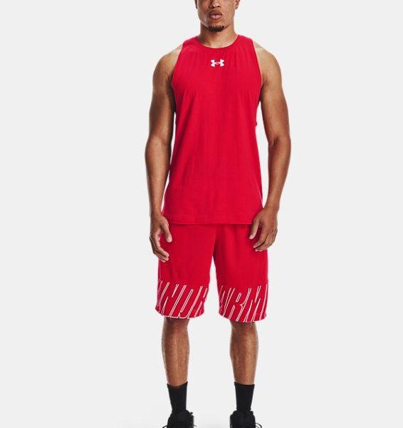Camiseta sin mangas de algodón UA Baseline para hombre