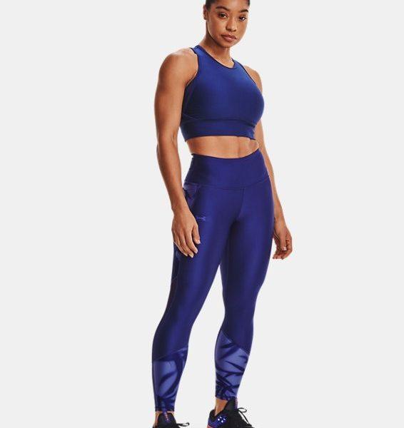 Leggings HeatGear® Armour No-Slip Waistband Tonal Panel Ankle para mujer
