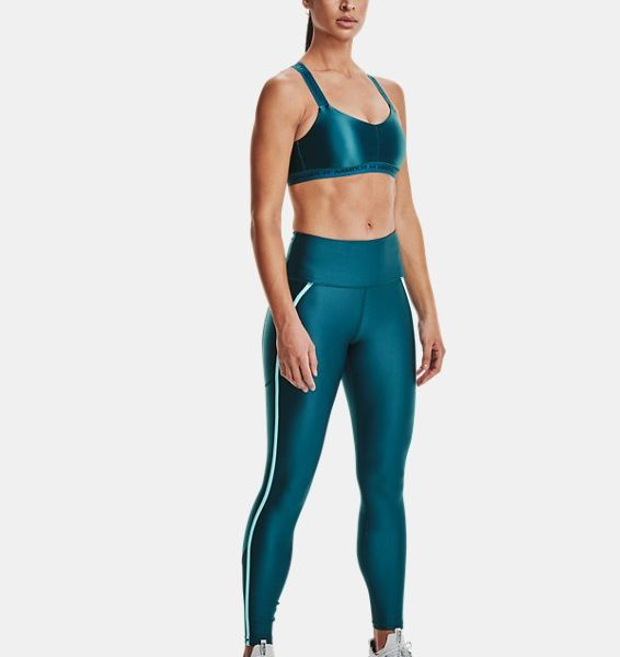 Leggings HeatGear® Armour No-Slip Waistband Shine Mesh Full-Length para mujer