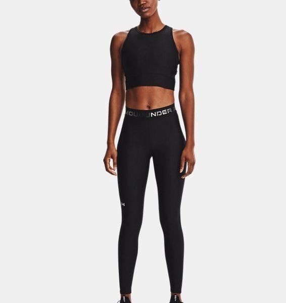 Leggings HeatGear® Armour Wordmark Waistband Full-Length para mujer