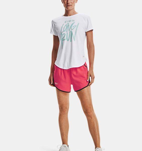 Camiseta de manga corta UA Long Run Graphic para mujer