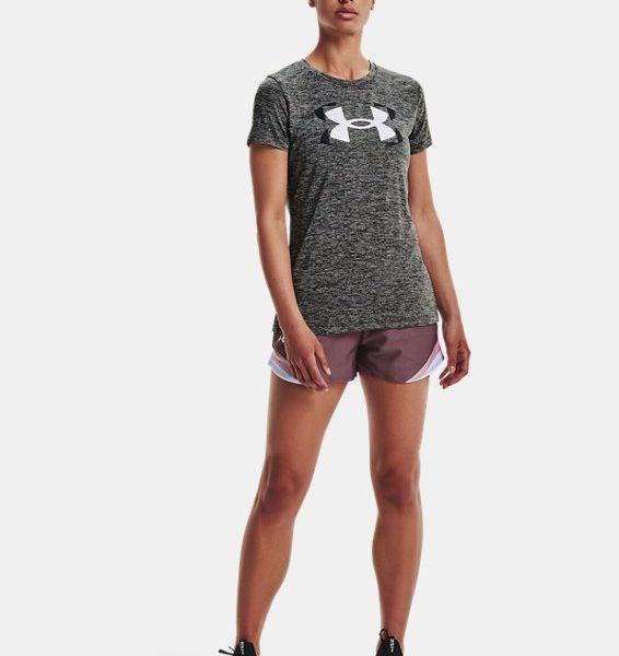 Camiseta de manga corta con estampado UA Tech™ Twist para mujer