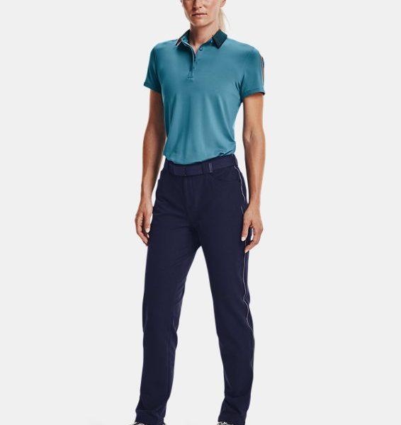 Polo UA Zinger Sleeve Stripe para mujer