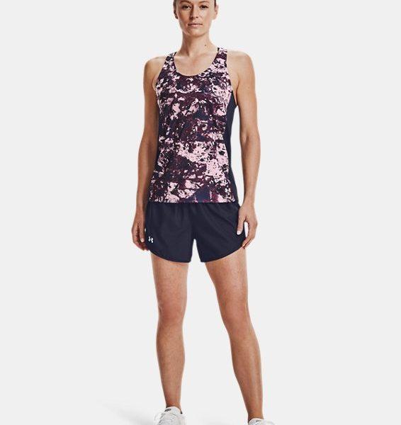 Camiseta sin mangas con estampado UA Fly-By para mujer