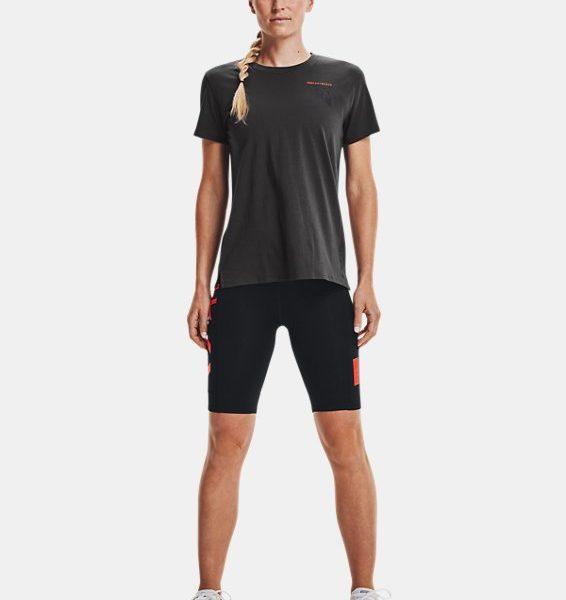 Camiseta de manga corta UA Run Anywhere para mujer