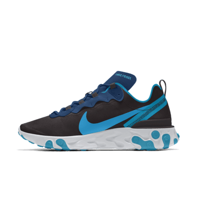 Nike React Element 55 By You Zapatillas de lifestyle personalizables - Hombre - Negro